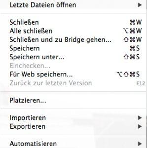 Auslesen der EXIF-Daten mit Photoshop-Dateiinformationen mit Version CS6: Photoshop/Dateiinformationen