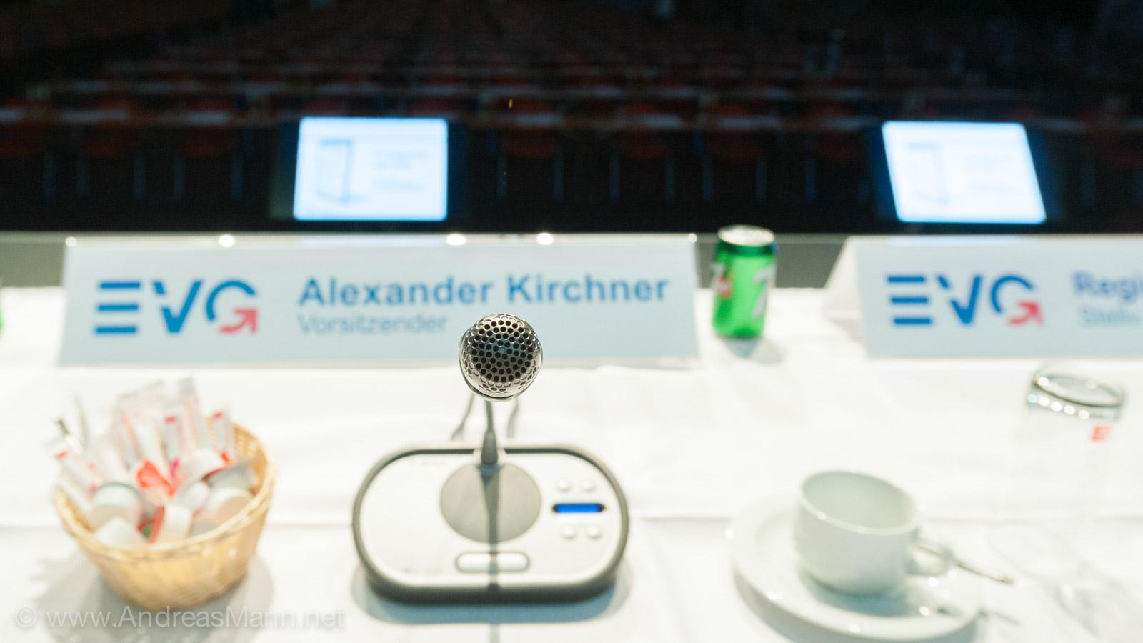 Alexander Kirchner nimmt gleich Platz auf dem Kleinen Gewerkschaftstag in Fulda.