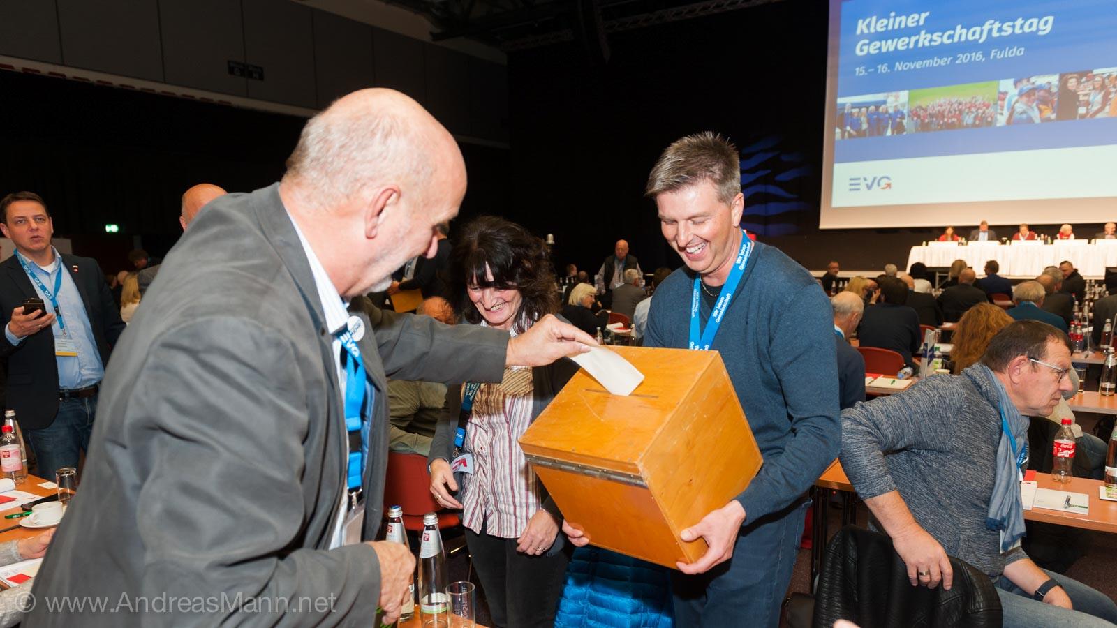 Die Wahl des Bundesgeschäftsführers der EVG - Foto von Andreas Mann Fotografie - Businessfotograf in Frankfurt am Main