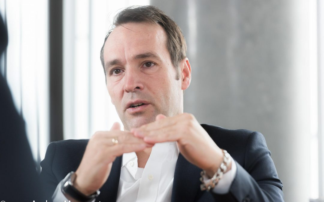 Interview-Fotografie in Frankfurt mit Dr. Thomas Schaffer Vorstand Vertrieb und Fahrplan DB Netz AG