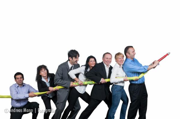 Das Teamfoto 1: das Teamfoto der Gebäudereinigungsfirma.